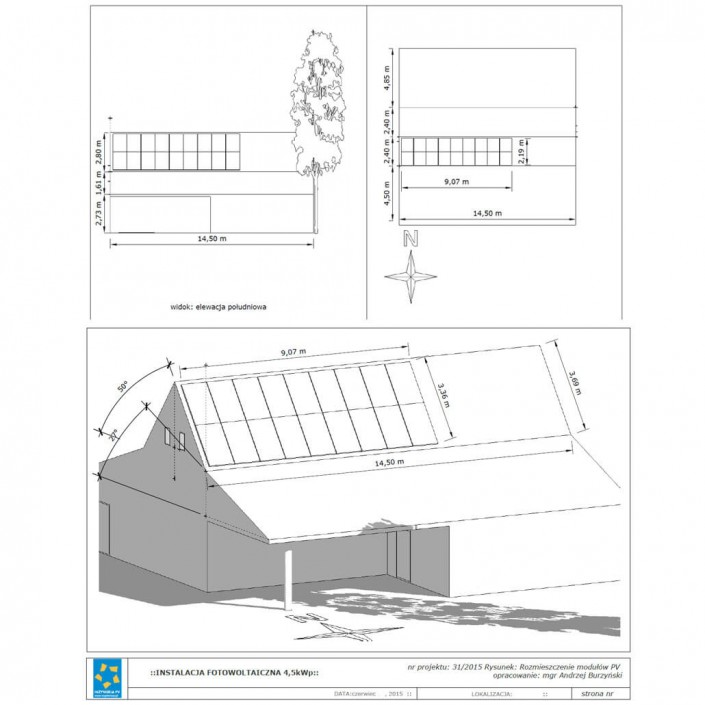 Projekt instalacji PV4